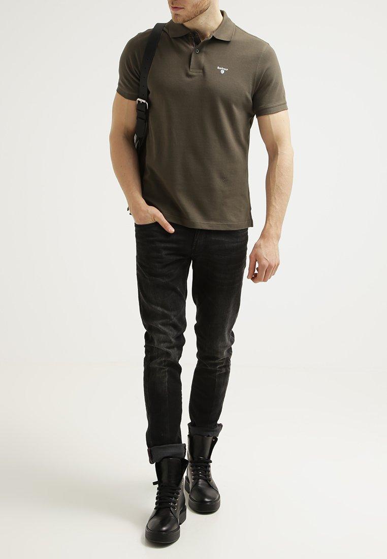 Men TARTAN  - Polo shirt - dark olive/classic