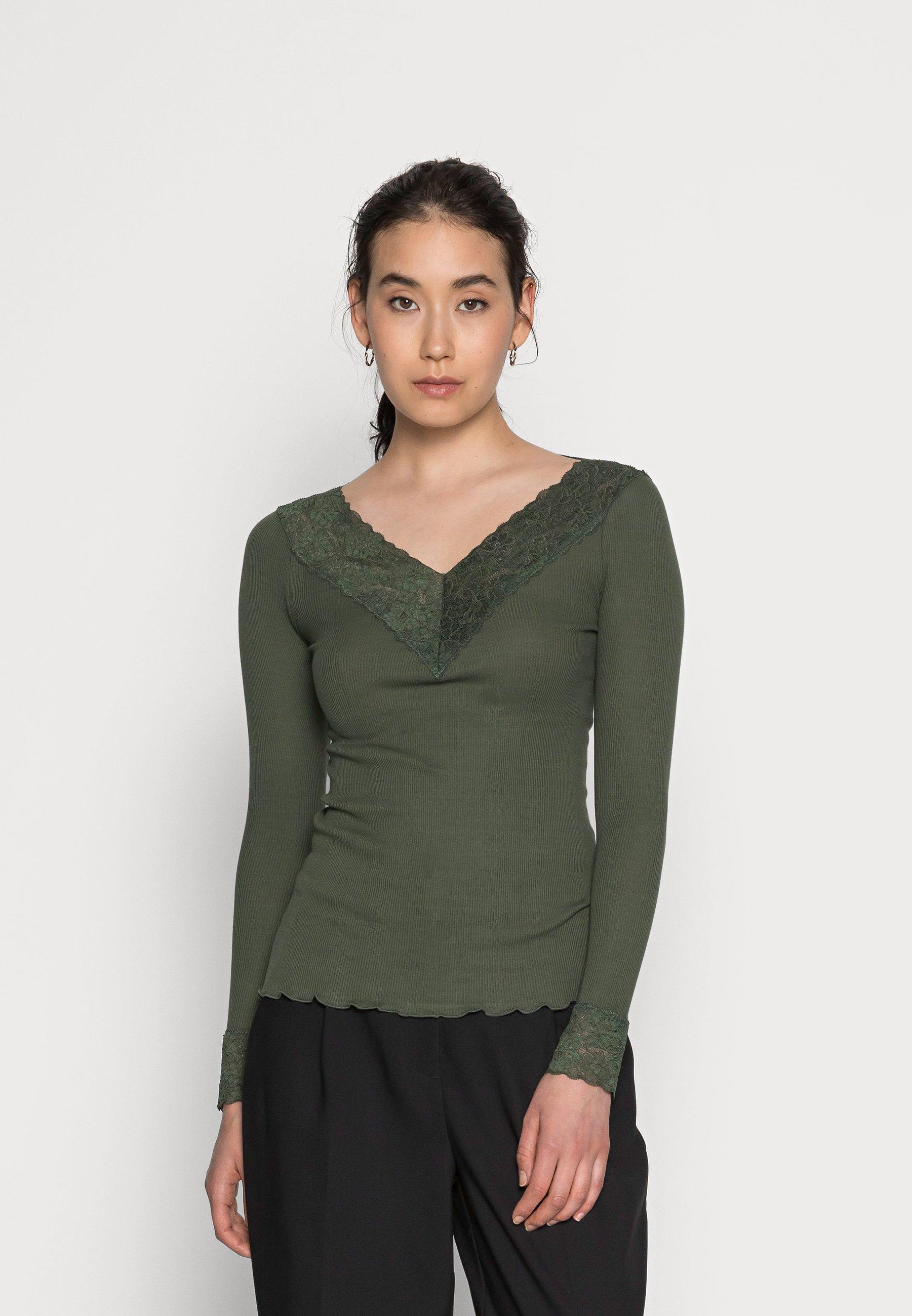 Damen ORGANIC V-NECK REGULAR - Langarmshirt
