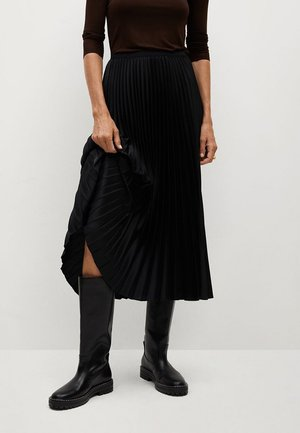 PLISADO - Pleated skirt - zwart