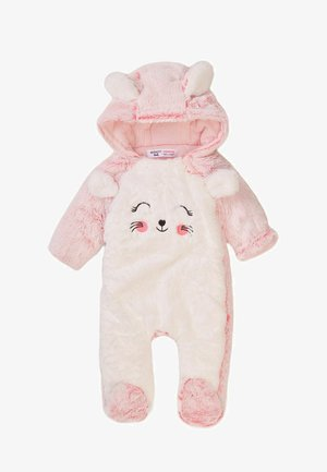 Jumpsuit - pink/white