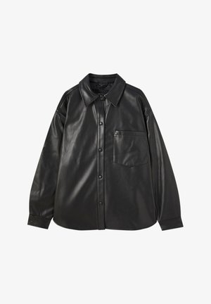 Faux leather jacket - black