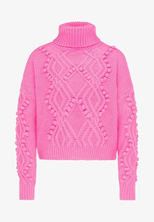 Strickpullover - neon pink