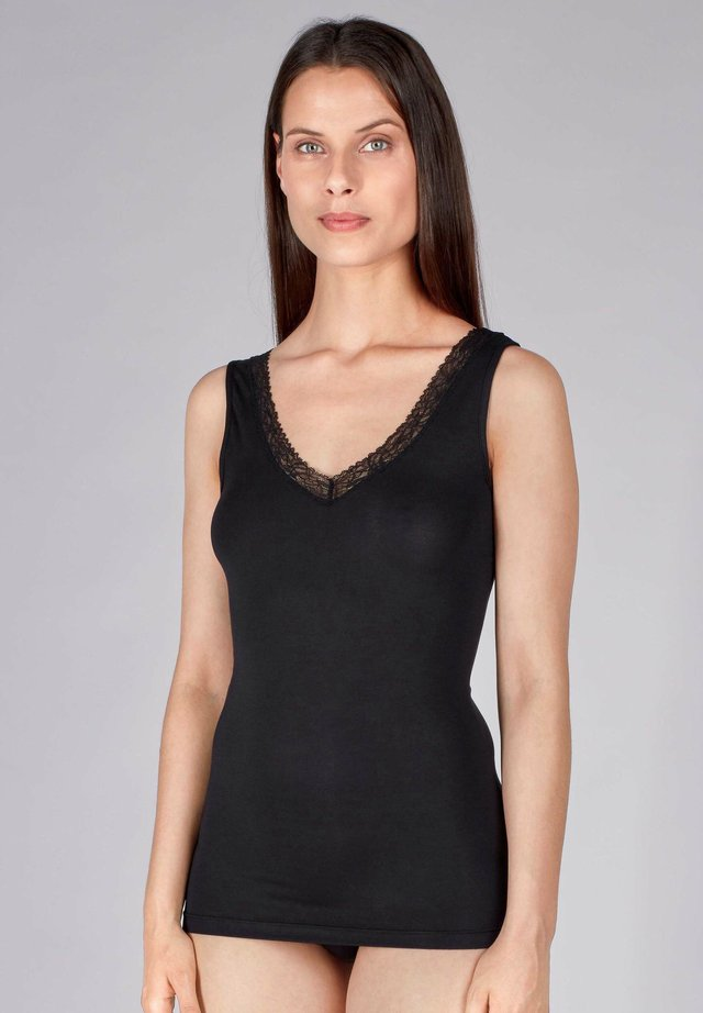MIT V-AUSSCHNITT - Undershirt - black