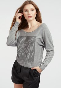 Guess - FRONTAL STRASS - Sweatshirt - gris - 0