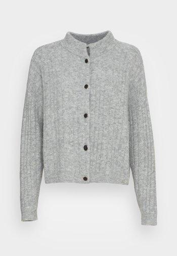 ALPHA SHORT CARDIGAN - Cardigan - grey melange