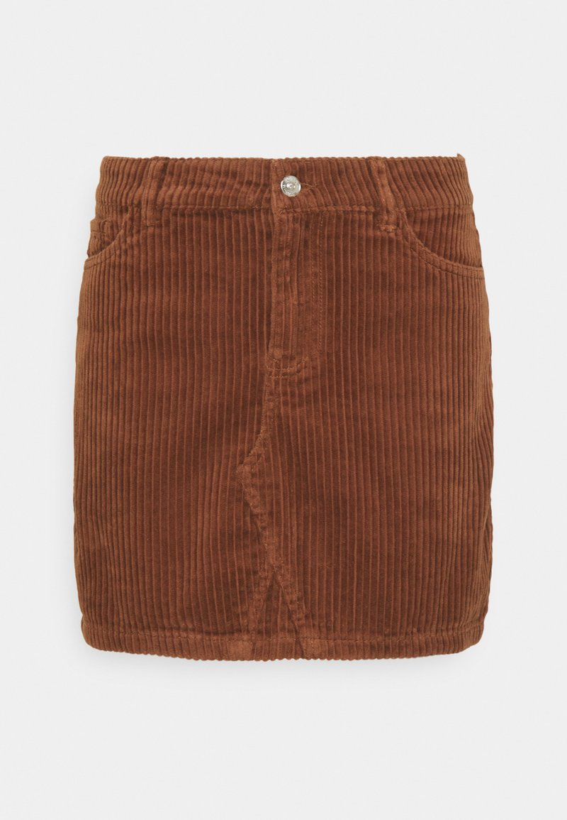 ONLY - ONLSKY ENY LIFE SKIRT - Denim skirt - rustic brown
