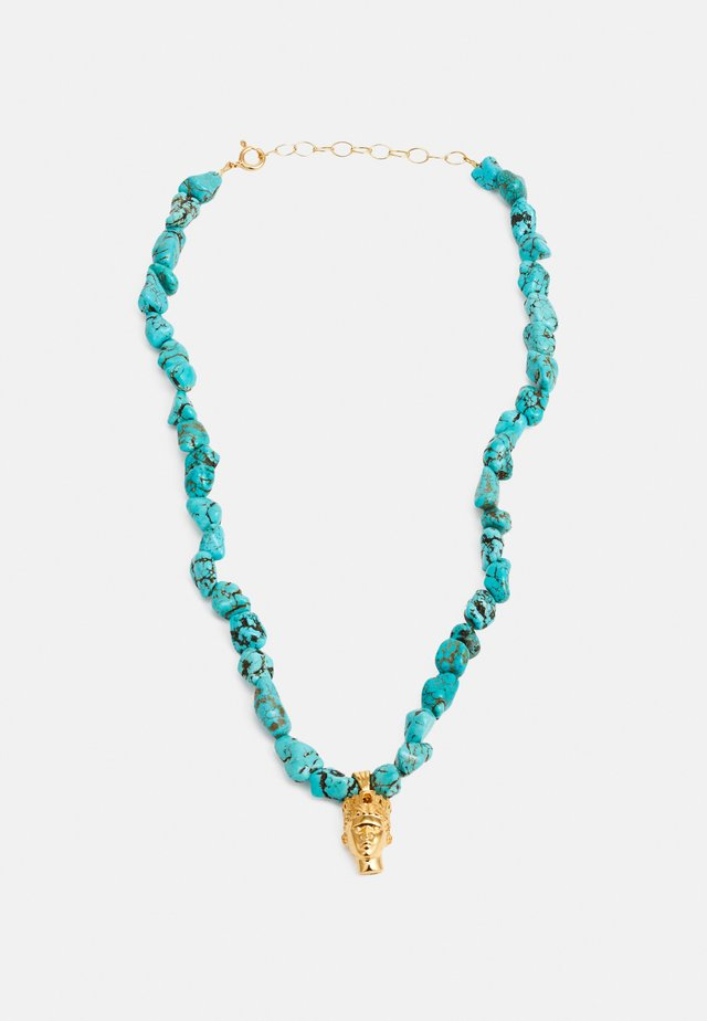 TÝCHE NECKLACE - Ketting - gold-coloured/turquoise