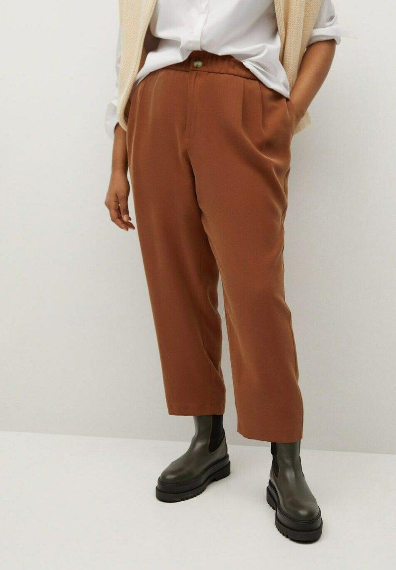 Violeta by Mango - KENIA - Trousers - bräunliches orange