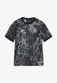 adidas Performance - DFB DEUTSCHLAND PRESHI Y - Print T-shirt - black/grey heather - 4