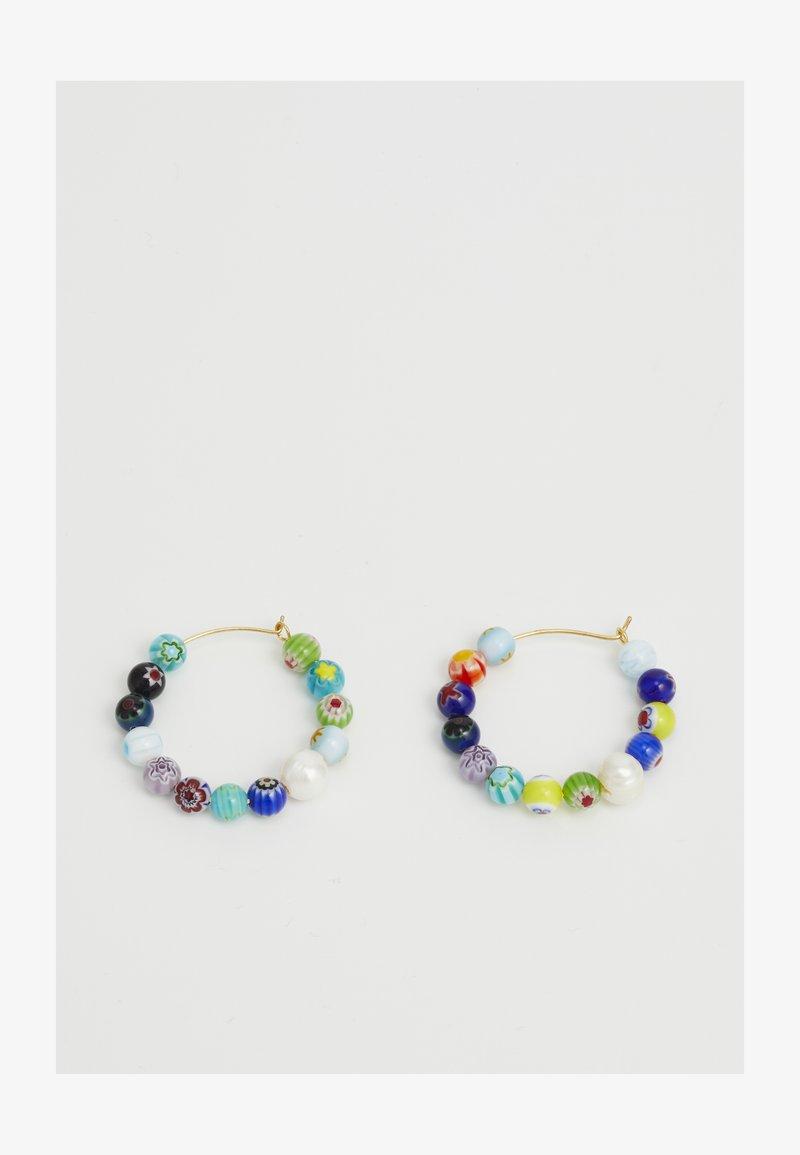Rebecca Minkoff - RAINBOW BEAD HOOP EARRING - Earrings - gold-coloured