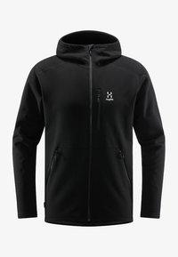 Haglöfs - BUNGY HOOD - Fleece jacket - true black - 4
