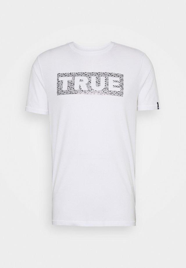 THE BOX LOGO RHINESTONES - T-shirt imprimé - white