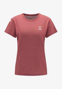 Haglöfs - L.I.M STRIVE TEE - Print T-shirt - maroon red - 4