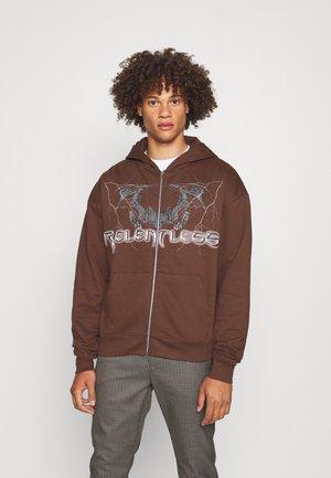 ZIP - Zip-up sweatshirt - brown