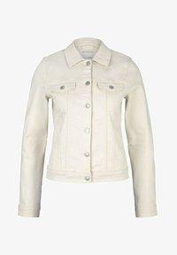 TOM TAILOR DENIM - RIDERS  - Denim jacket - light beige - 4