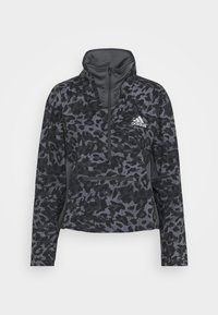 adidas Performance - FAST 1/2 ZIP - Sports jacket - grey four/black - 7
