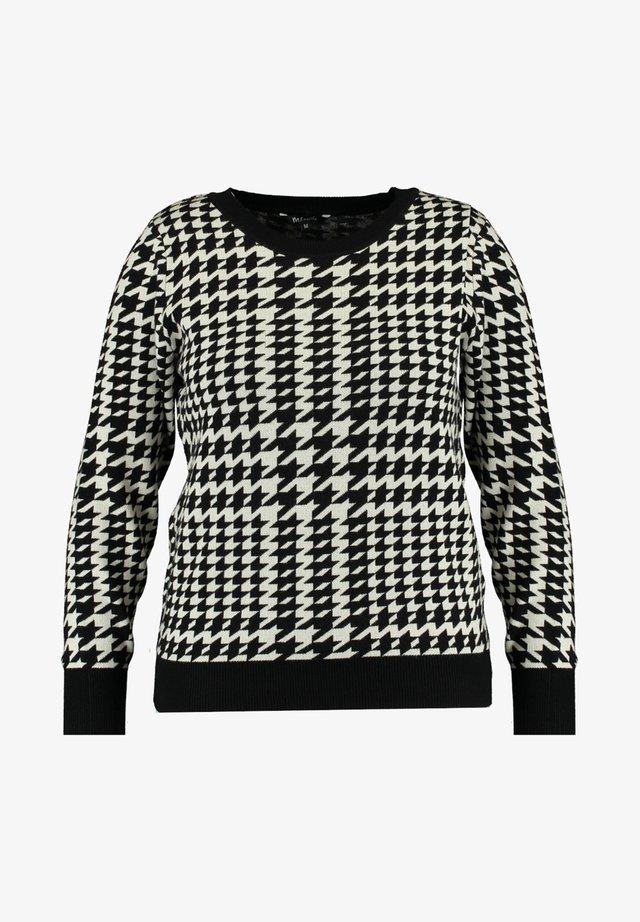 Pullover - multi zwart-wit