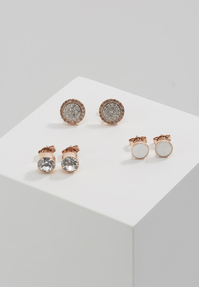 3PACK - Ohrringe - silber/rosegold-coloured