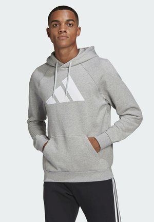 FI HOOD BD MUST HAVES SPORTS RELAXED SWEATSHIRT HOODIE - Bluza z kapturem - grey