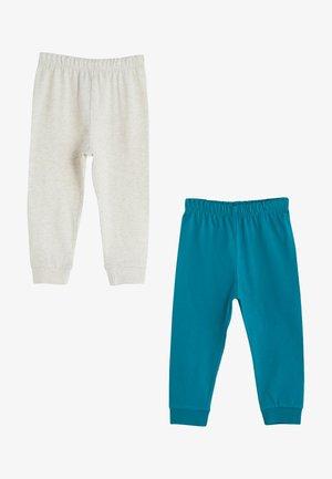 Pyjama bottoms - turquoise\white