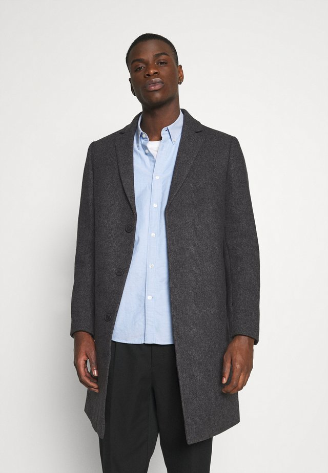 BRUSHED BIRDS EYE - Classic coat - grey