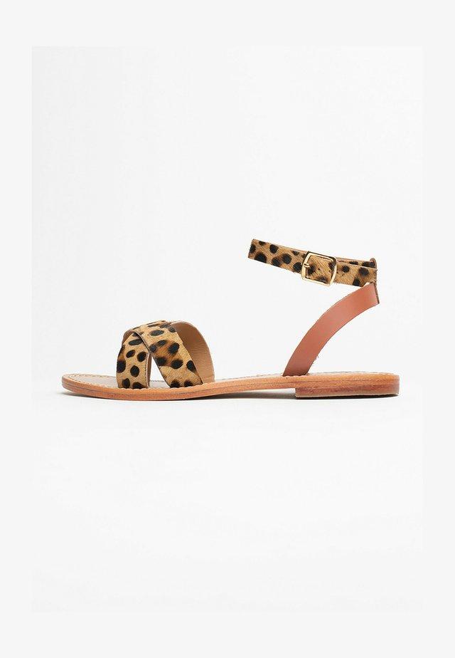 BRIONE - Sandały - leopard print
