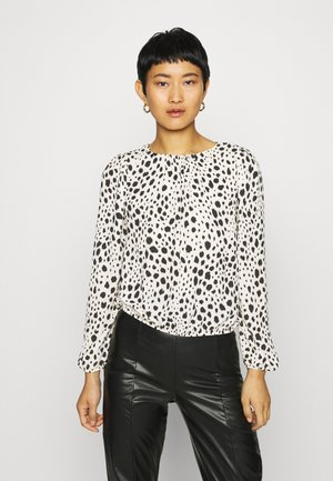 MONO ANIMAL BUBBLE HEM - Blouse - black/white