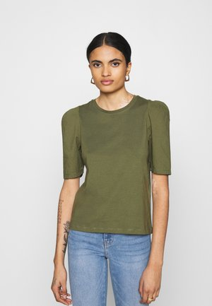 ONLRASHA LIFE PUFF MIX - Basic T-shirt - kalamata