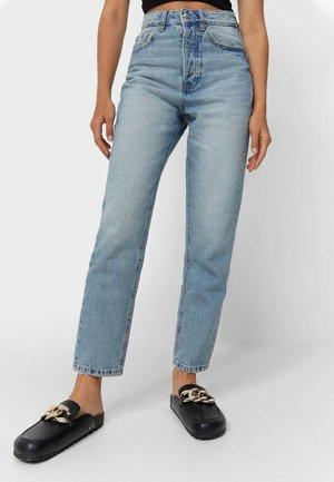 Straight leg jeans - stone blue denim