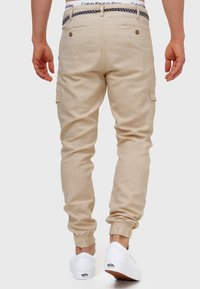 INDICODE JEANS - BOOTH - Cargo trousers - fog - 2