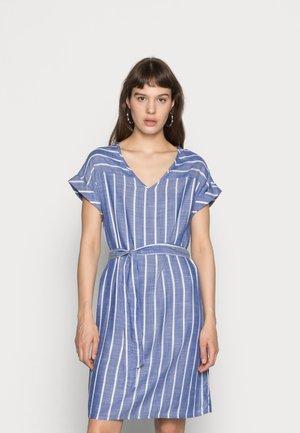 JDYJANINE DRESS - Day dress - blue/white