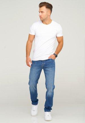 JJIMIKE JJARIS - Straight leg jeans - dark blue denim
