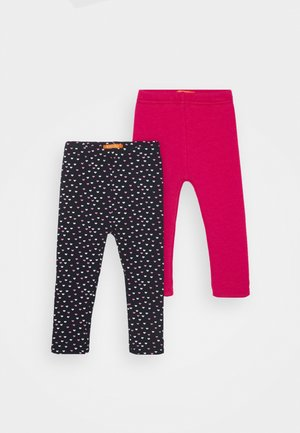 THERMO 2 PACK - Leggings - Trousers - dark blue/pink