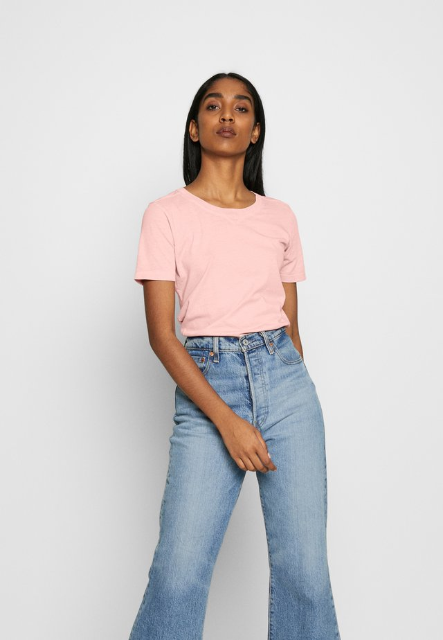MYSID RECYCLE DYE SLIM - T-shirts basic - pink orchid