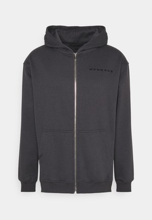 ESSENTIAL REGULAR ZIP UP HOODIE UNISEX - Collegetakki - dark grey