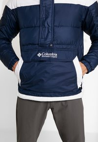 Columbia - LODGE PULLOVER JACKET - Vinterjakker - collegiate navy/white - 6