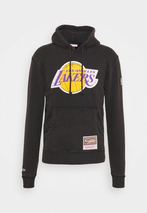 NBA LOS ANGELES LAKERS WORN LOGO WORDMARK HOODY - Article de supporter - black