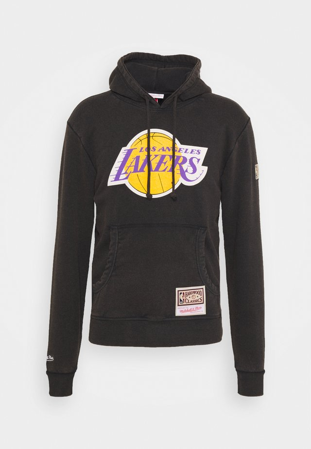 NBA LOS ANGELES LAKERS WORN LOGO WORDMARK HOODY - Klubové oblečení - black