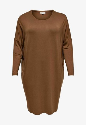 CURVY - Day dress - tobacco brown
