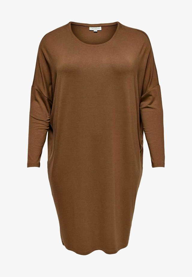 CURVY - Day dress - tobacco brown