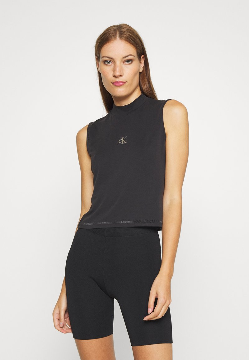 Calvin Klein Jeans - SLEEVELESS MOCK NECK - Top - ck black