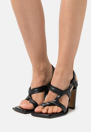 KNOTTED - Infradito - jet black