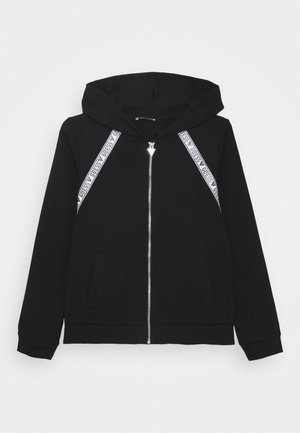 JUNIOR ACTIVE ZIP - Zip-up hoodie - jet black
