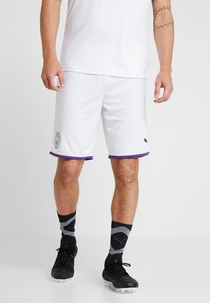 MANCHESTER CITY SHORTS REPLICA - Pantaloncini sportivi - white/tillandsia purple
