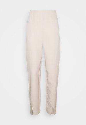 SPLIT FRONT TAILORED TROUSERS - Pantaloni - beige
