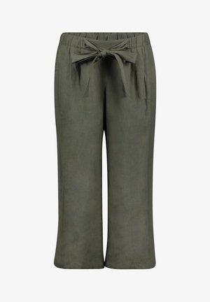 MIT BUNDFALTEN - Trousers - dusty olive