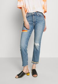 Mother - THE MID RISE BUTTON FLY DAZZLER ANKLE FRAY  - Straight leg jeans - blue - 0
