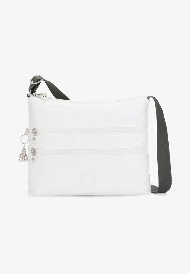 Across body bag - white metallic