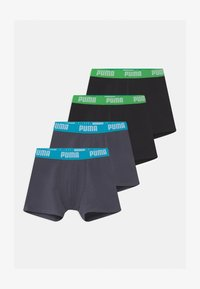 Puma - BOYS BASIC 4 PACK - Pants - india ink/turquoise - 0