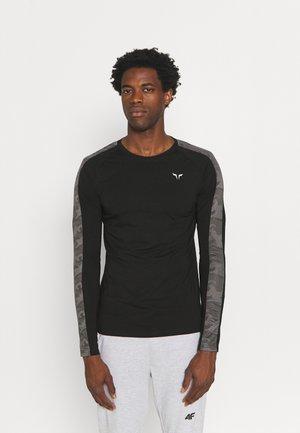 LIMITLESS FULL SLEEVES TEE - Long sleeved top - black